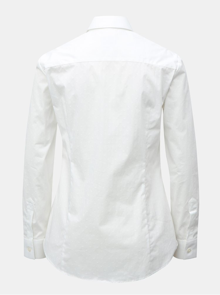 Bílá dámská košile s drobným vzorem VAVI