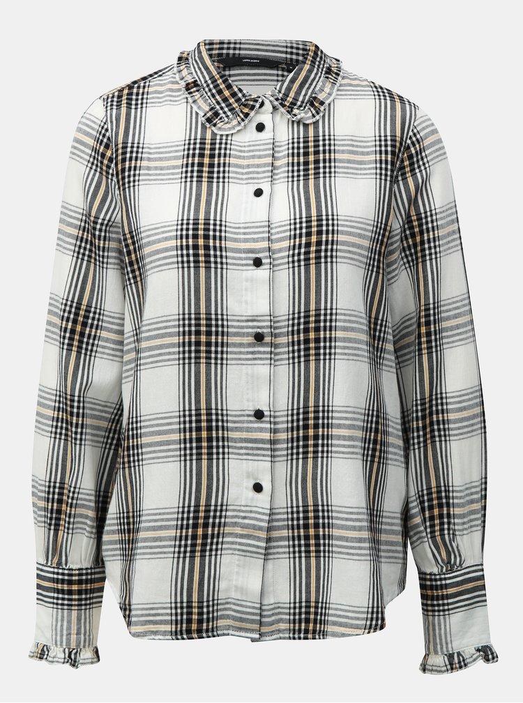 Biela károvaná košeľa VERO MODA Ketch