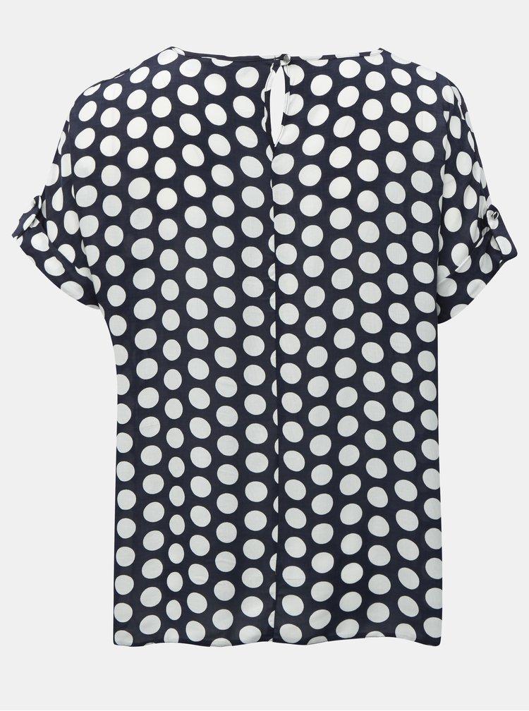 Bluza albastru inchis cu buline Dorothy Perkins Curve
