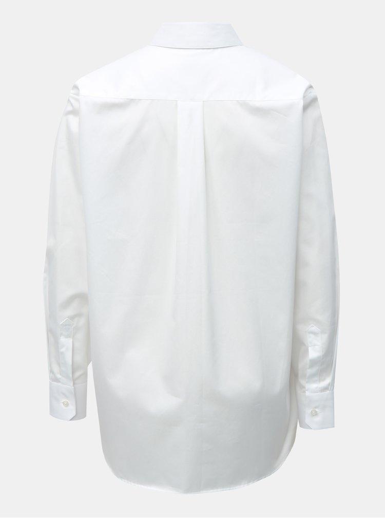 Bílá dámská volná košile VAVI