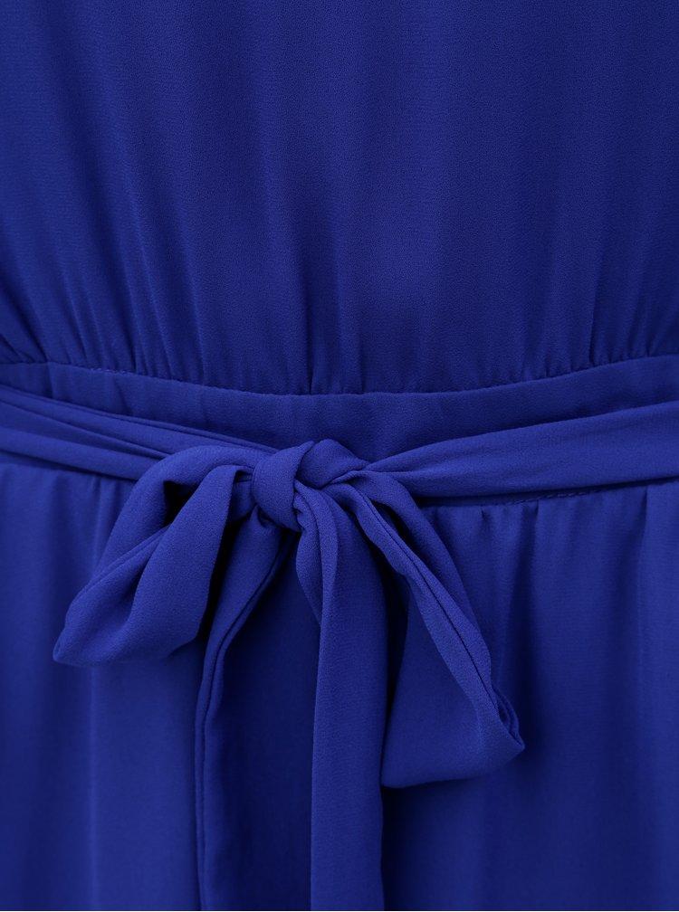 Modré šaty s páskem VILA Lucy