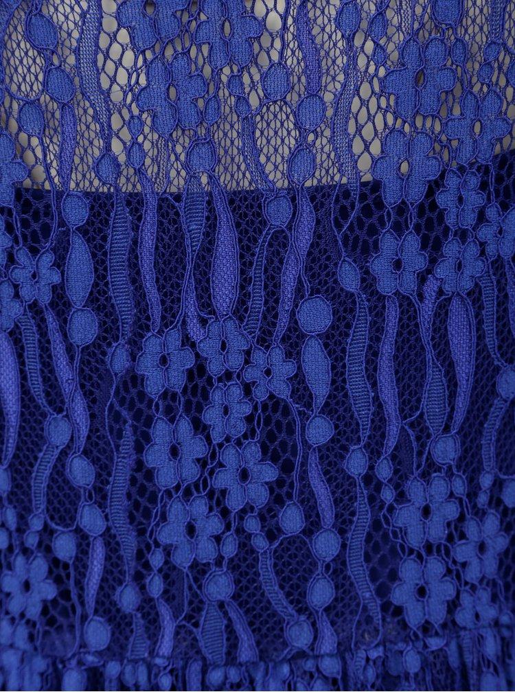 Modré krajkované midišaty VILA Lissy
