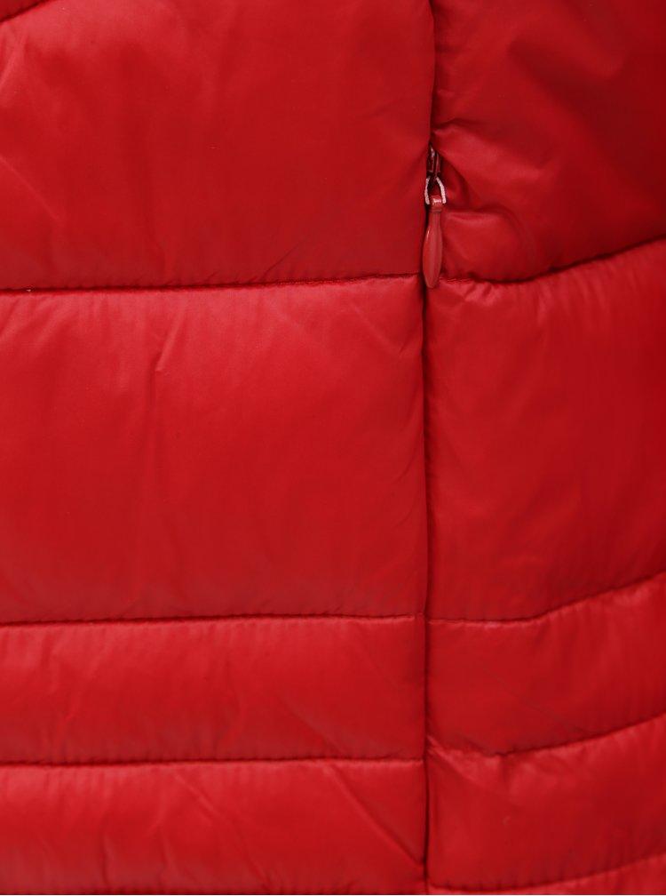 Červená prošívaná bunda VERO MODA Sally