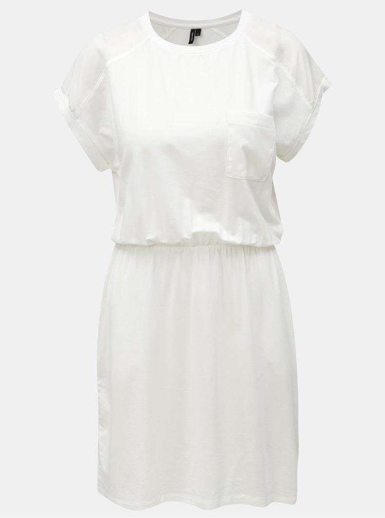 Bílé šaty s kapsami VERO MODA Ava