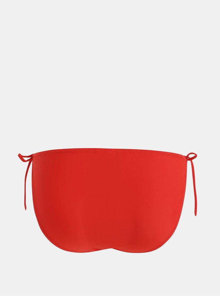 Červený spodní díl plavek VERO MODA Treille