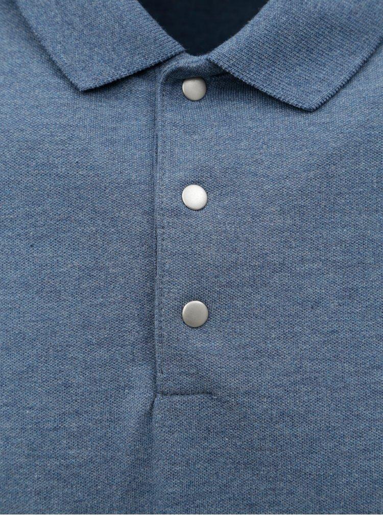Tricou polo albastru melanj Selected Homme