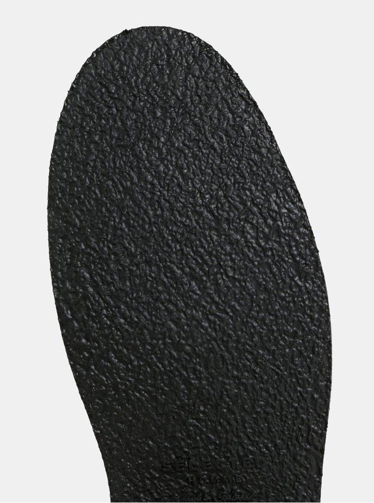 Černé pánské kožené polobotky Selected Homme
