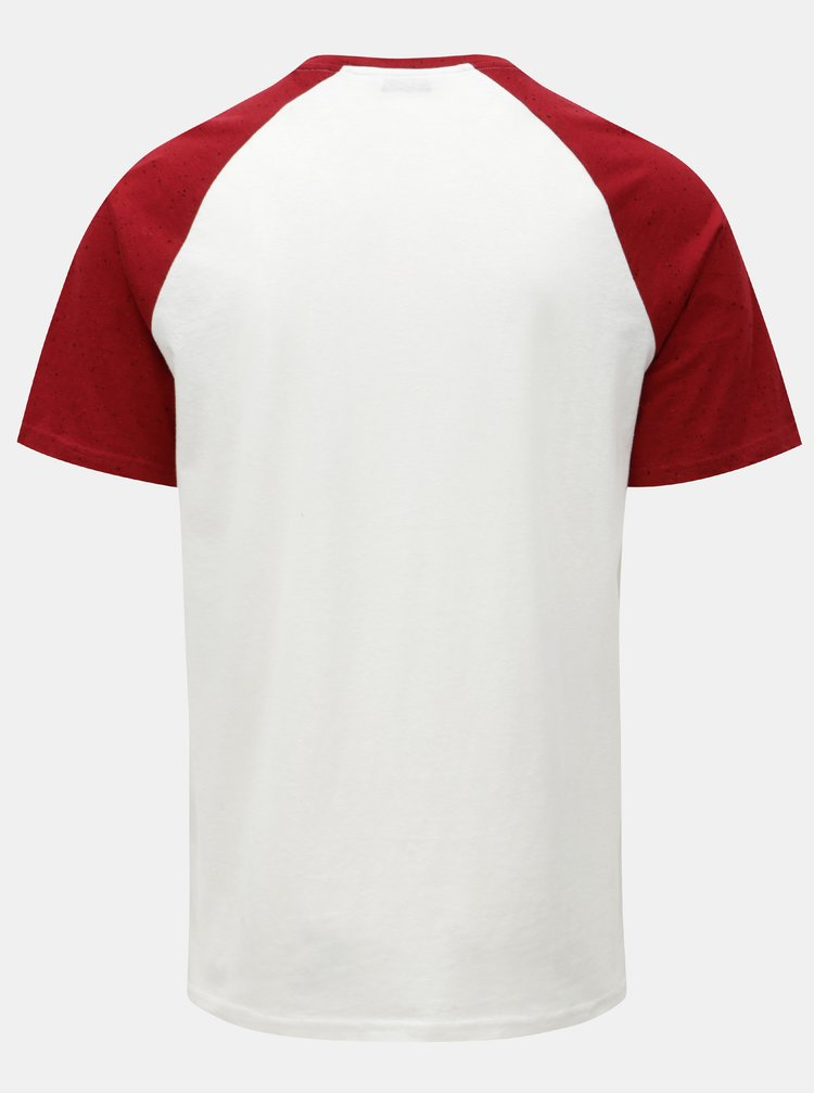 Červeno-bílé tričko s krátkým rukávem ONLY & SONS