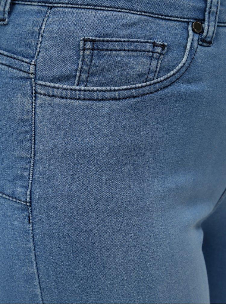 Modré skinny push up džíny Yest