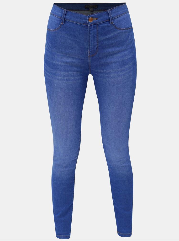Modré super skinny džíny s vysokým pasem Dorothy Perkins Frankie