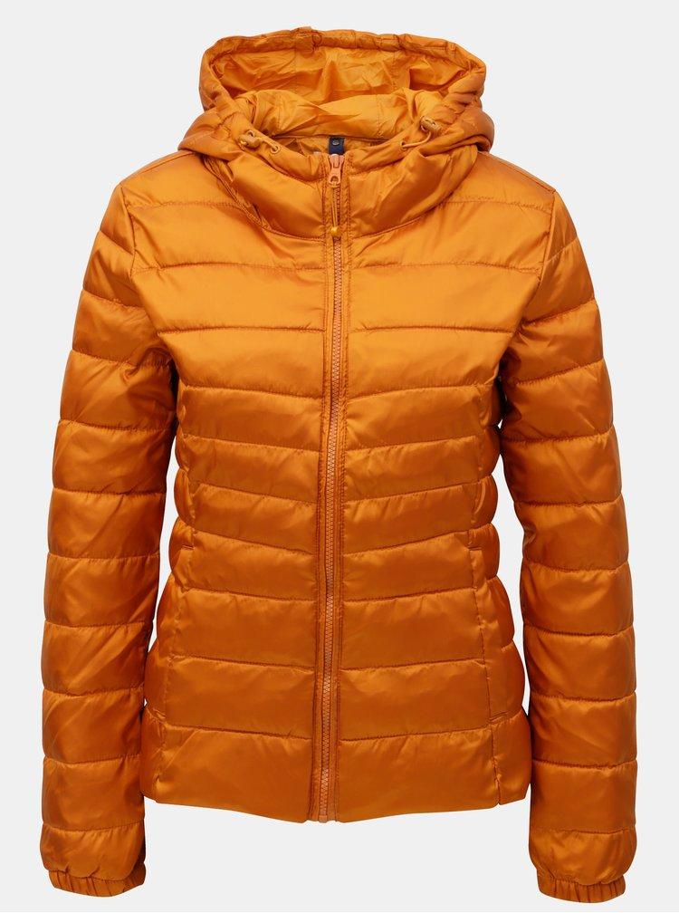 Oranžová prošívaná lehká bunda ONLY Tahoe