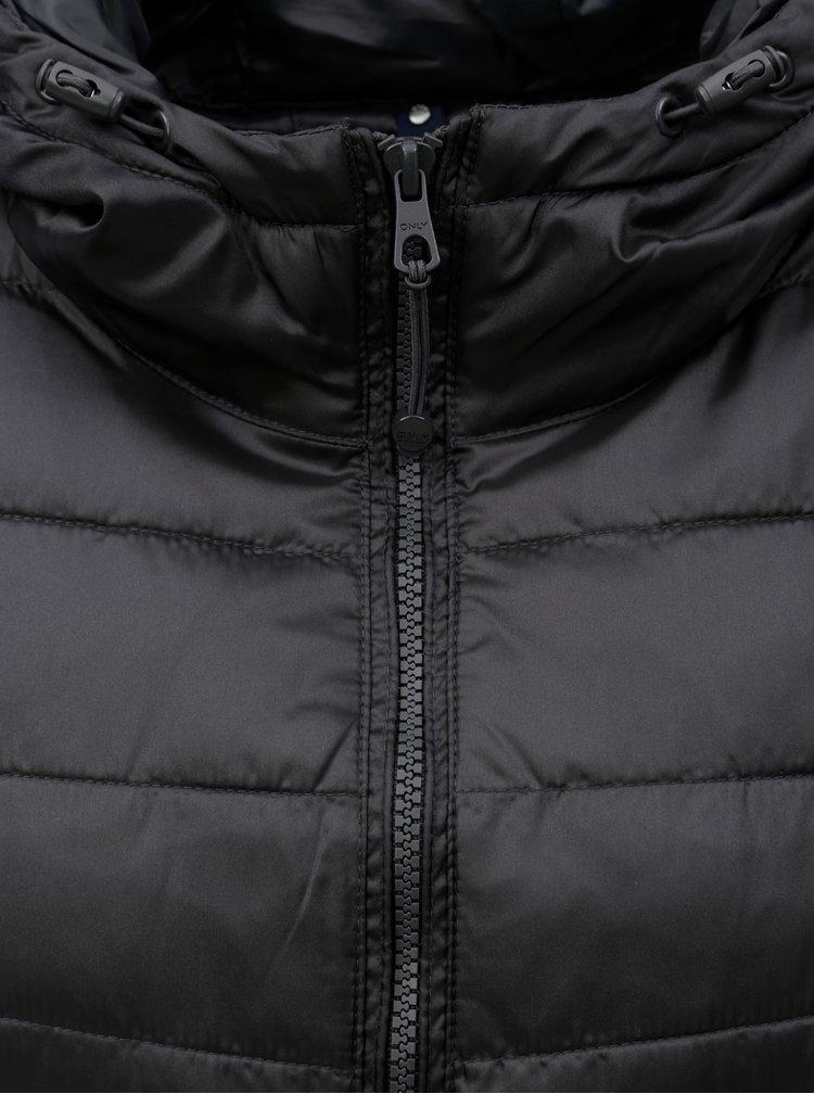 Černá prošívaná lehká bunda ONLY Tahoe