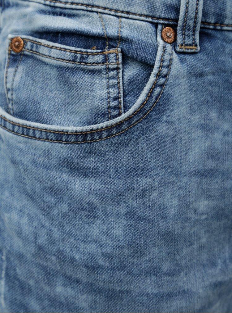 Světle modré džíny s vyšisovaným efektem ONLY & SONS