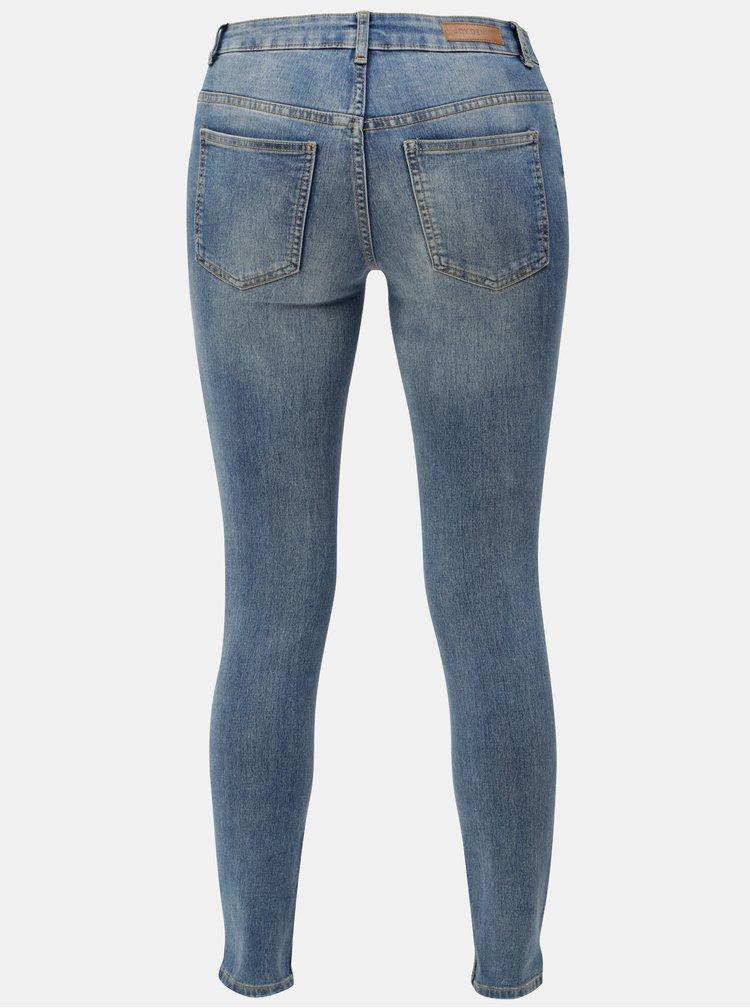 Modré skinny džíny s vyšisovaným efektem Jacqueline de Yong Dadenza