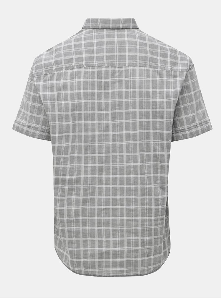 Šedá pánská kostkovaná košile s.Oliver