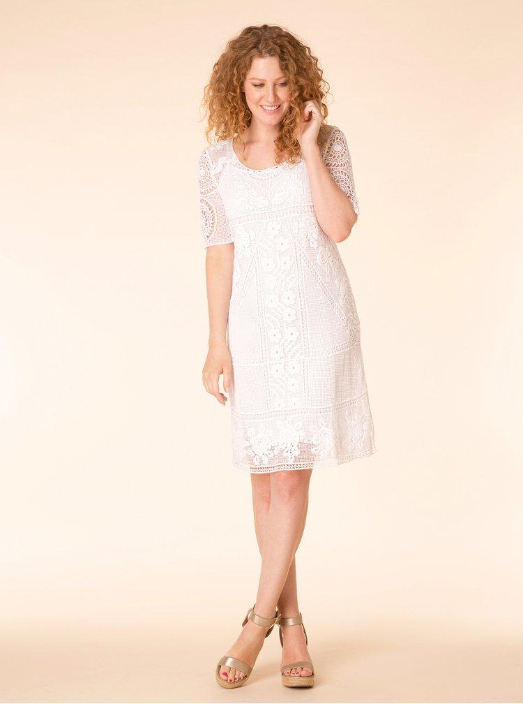 Bílé krajkové šaty Yest