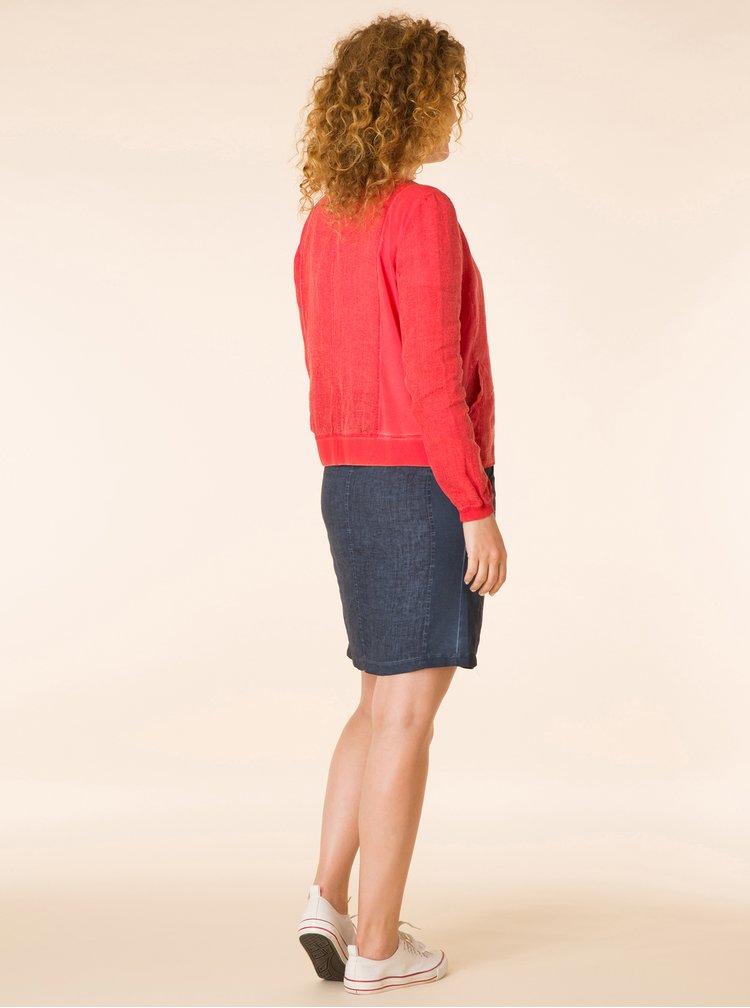 Modrá lněná sukně Yest