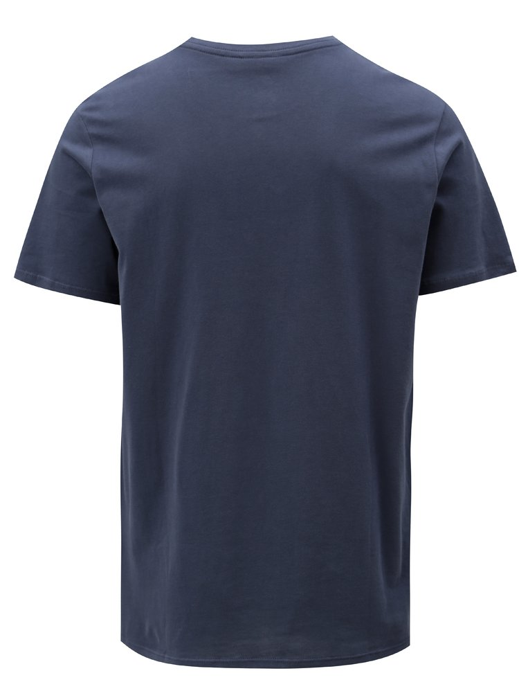 Tmavě modré pánské tričko s potiskem krátkým rukávem Nike