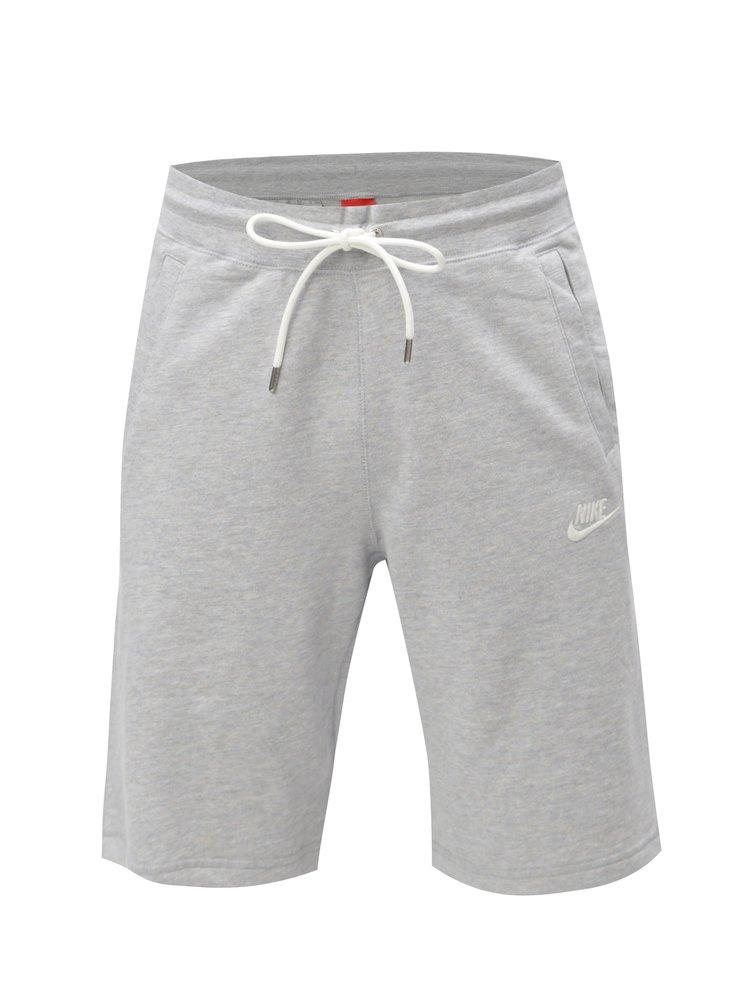 Pantaloni barbatesti scurti sport gri deschis melanj Nike