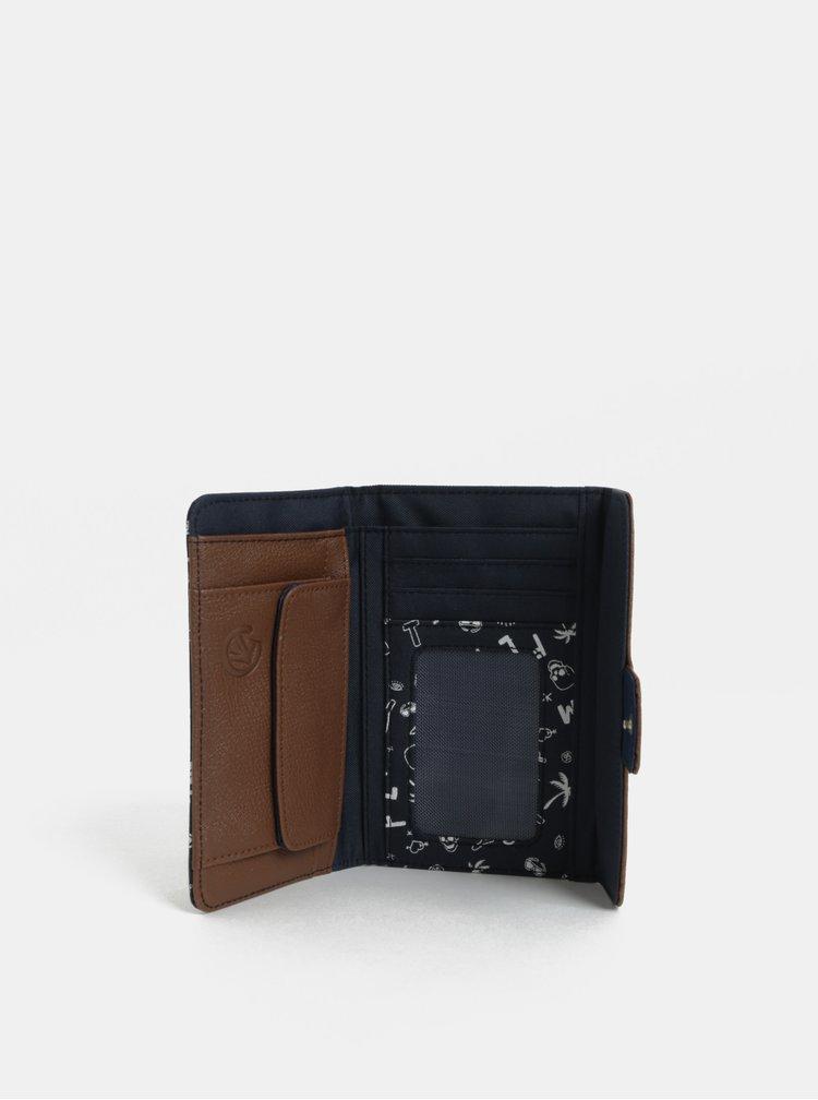 Hnedo-modrá dámska peňaženka Meatfly