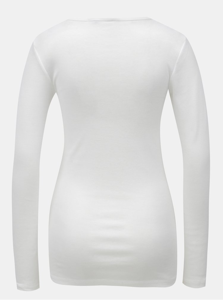 Tricou alb cu maneci lungi Dorothy Perkins