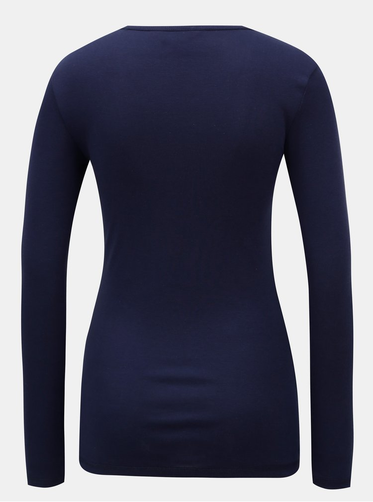 Modré basic tričko s dlouhým rukávem Dorothy Perkins