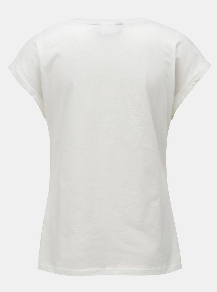 Bílé tričko s korálkovou aplikací Dorothy Perkins