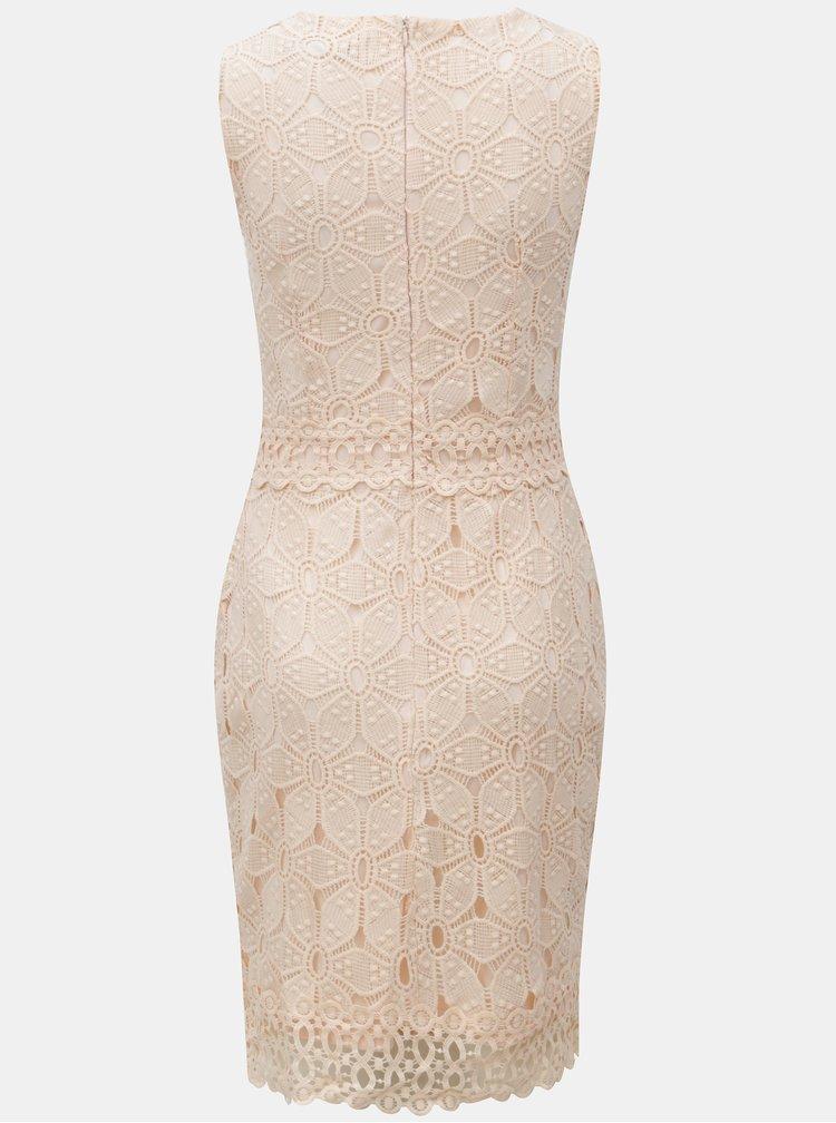 Růžové krajkované šaty Dorothy Perkins