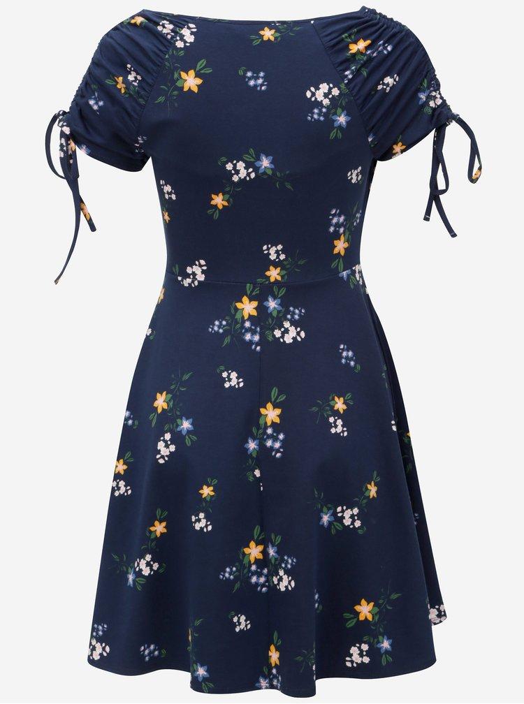 Modré vzorované šaty Dorothy Perkins