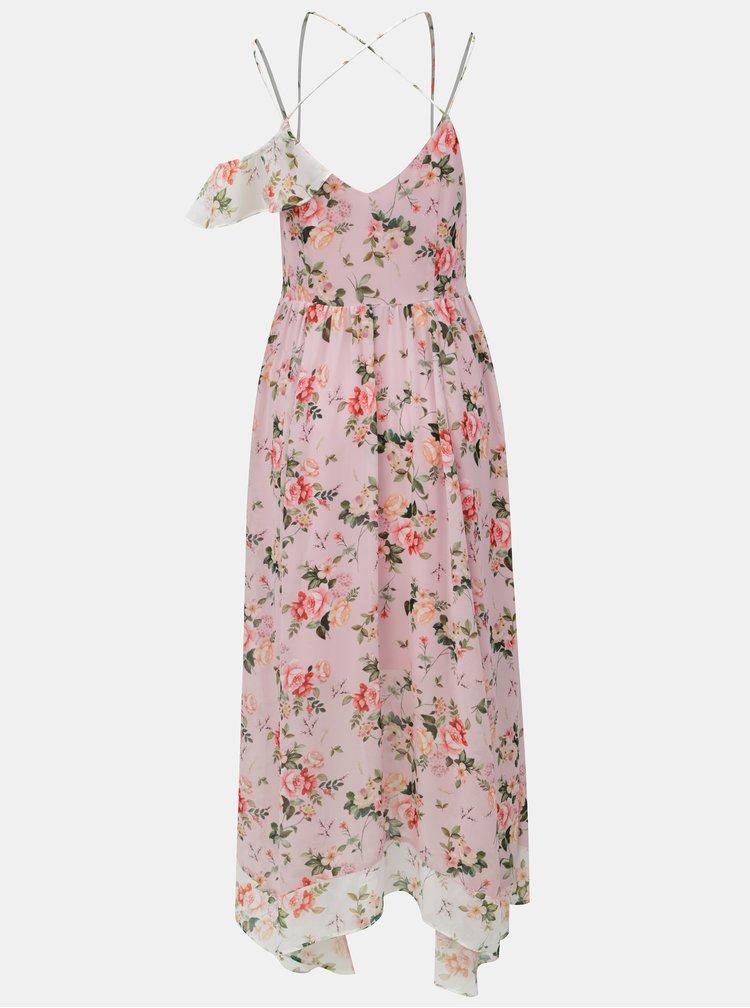 Ružové vzorované maxišaty Dorothy Perkins