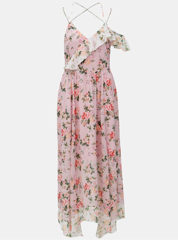 Růžové vzorované maxišaty Dorothy Perkins
