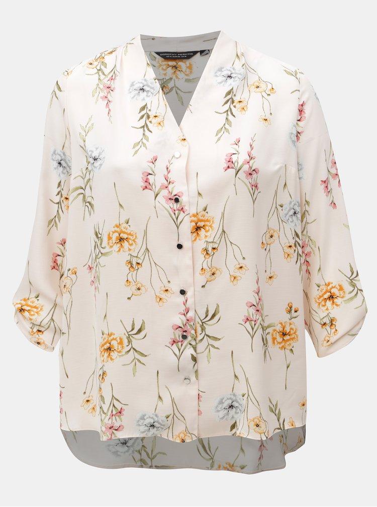 Růžová vzorovaná košile Dorothy Perkins Curve