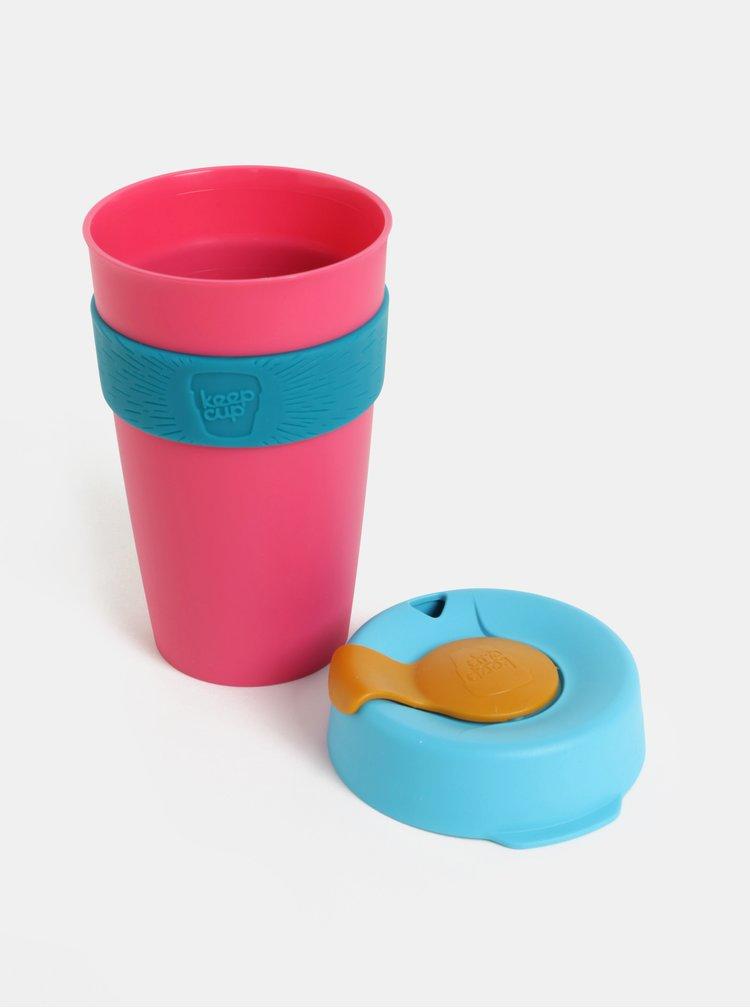 Modro-růžový cestovní hrnek KeepCup Original Large