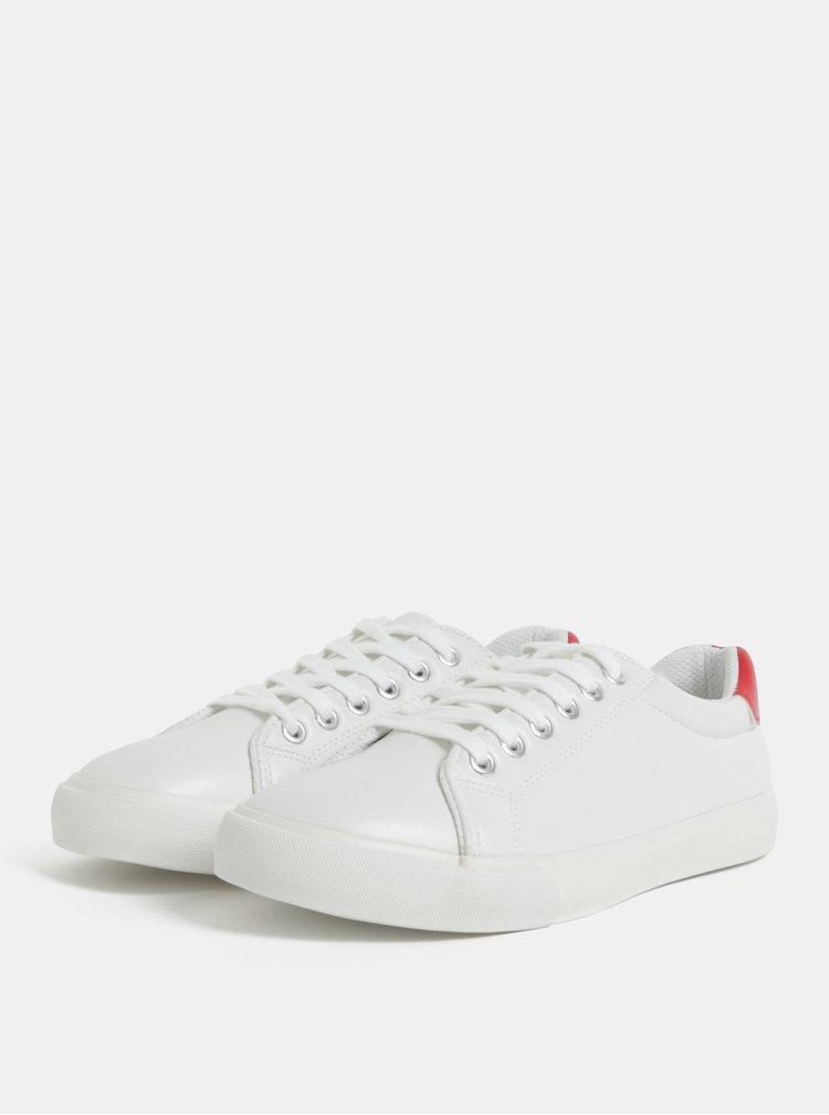 Červeno-bílé tenisky Dorothy Perkins