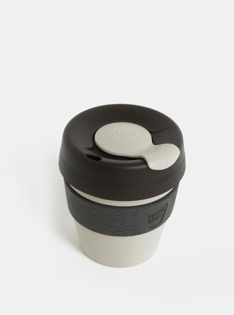 Hnědo-šedý cestovní hrnek KeepCup Original Small