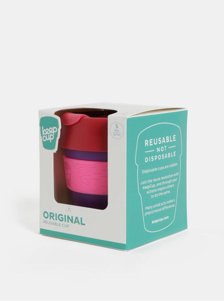 Červeno-fialový cestovní hrnek KeepCup Original Small