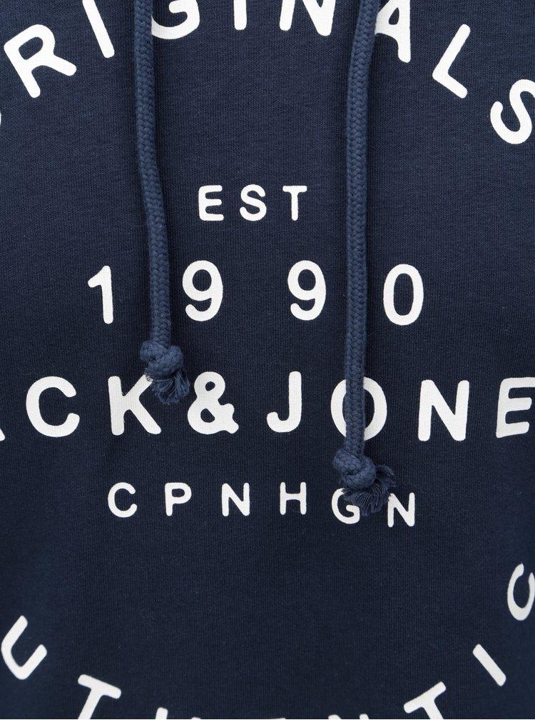 Tmavě modrá mikina s kapucí Jack & Jones