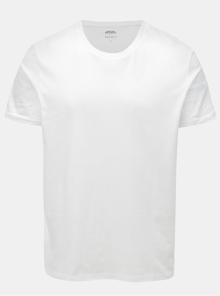 Bílé regular fit basic tričko Burton Menswear London