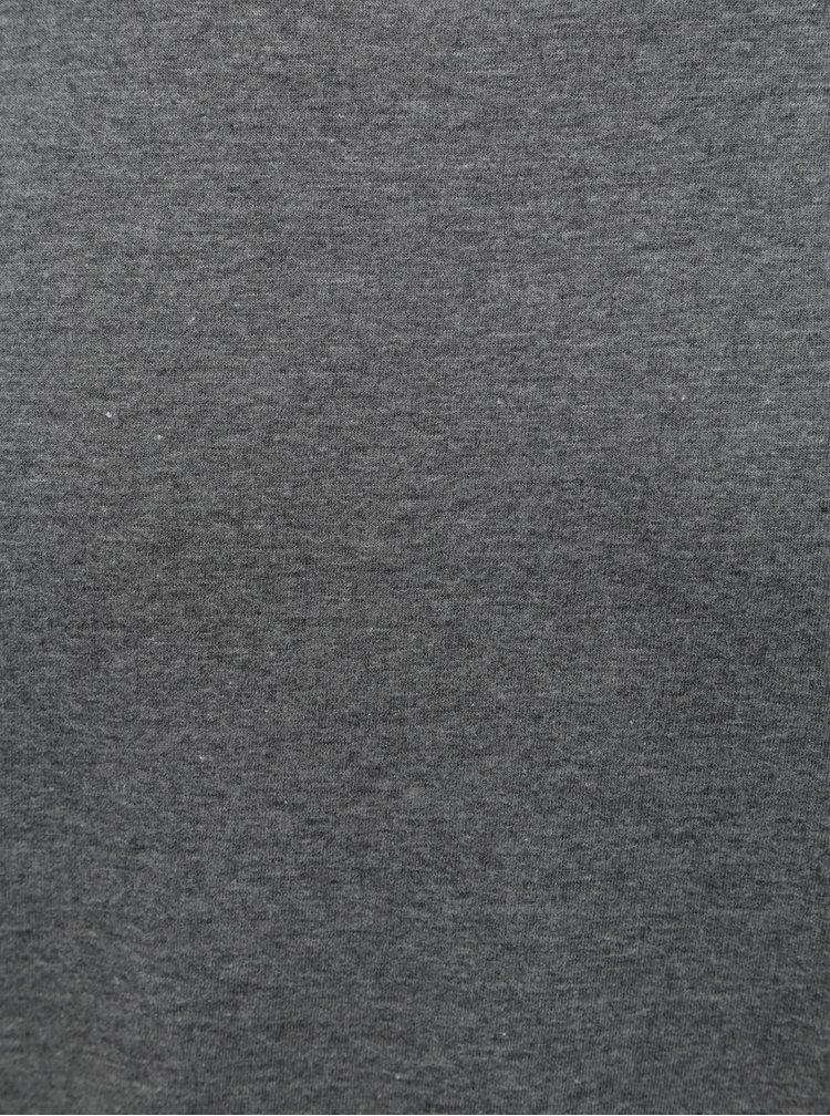 Šedé regular fit žíhané tričko s krátkým rukávem Burton Menswear London