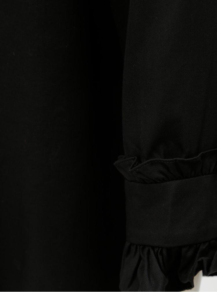 Černá halenka s 3/4 rukávem Selected Femme