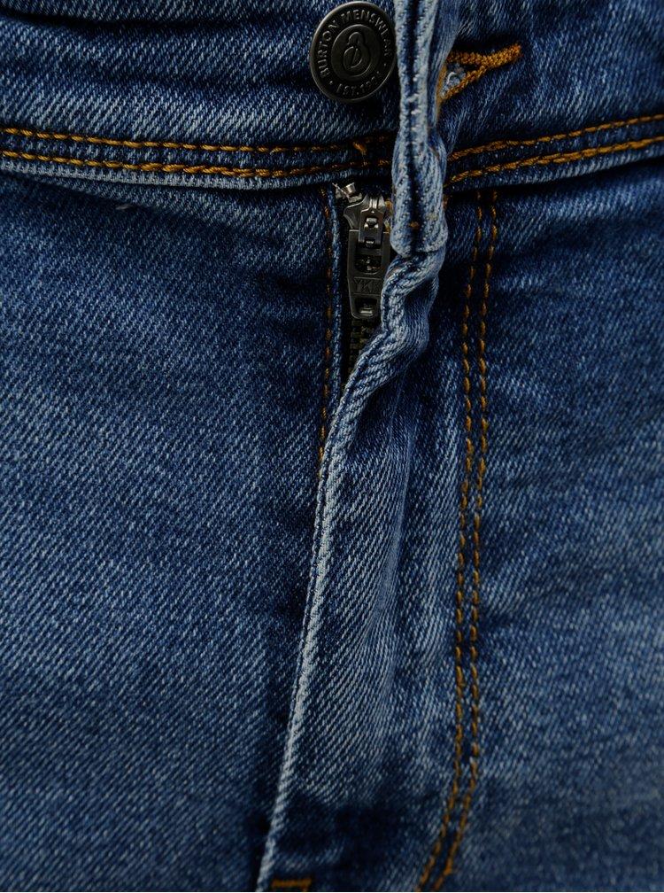 Modré džínové kraťasy s otrhaným efektem Burton Menswear London