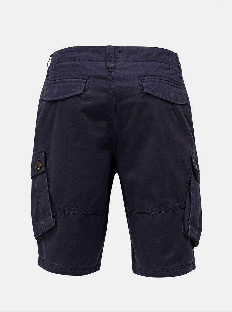 Pantaloni scurti albastru inchis cu buzunare Burton Menswear London