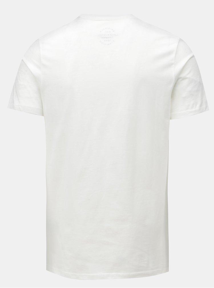 Bílé tričko s potiskem a krátkým rukávem Jack & Jones New felt
