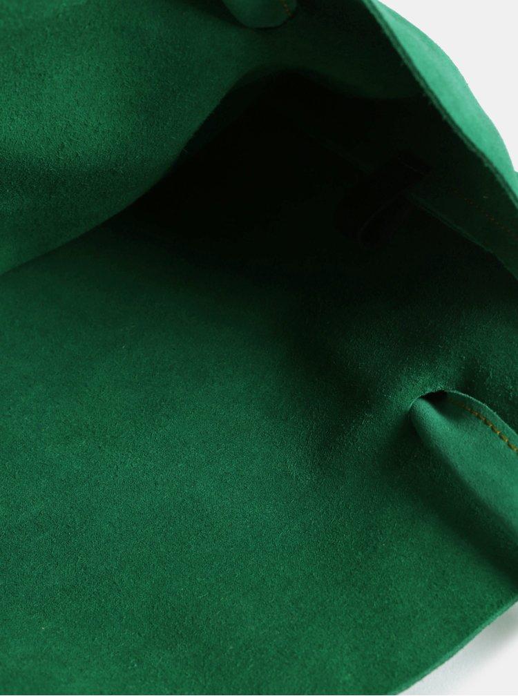 Zelený kožený shopper WOOX