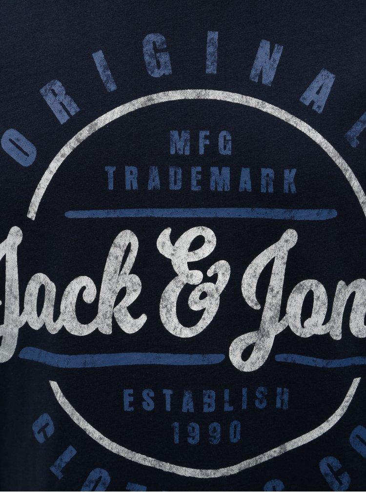 Tmavě modré tričko s potiskem Jack & Jones Vinnie