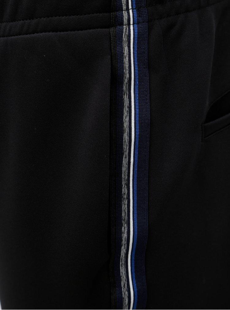Čierne tepláky s pruhmi na bokoch Jack & Jones Dean