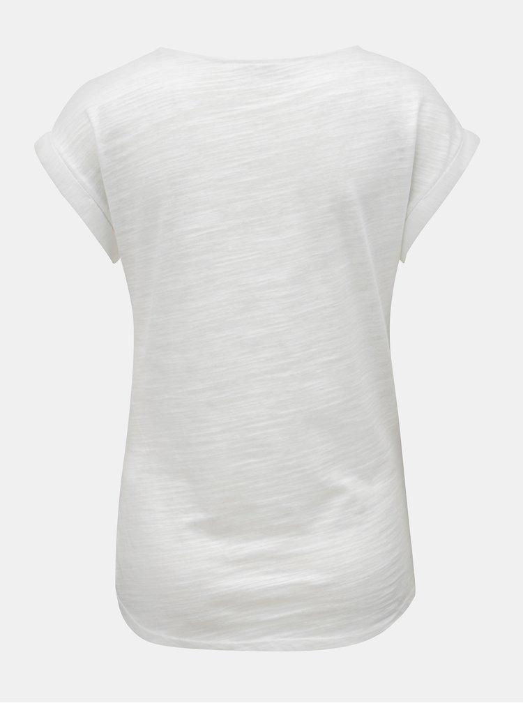Bílé dámské žíhané tričko WOOX