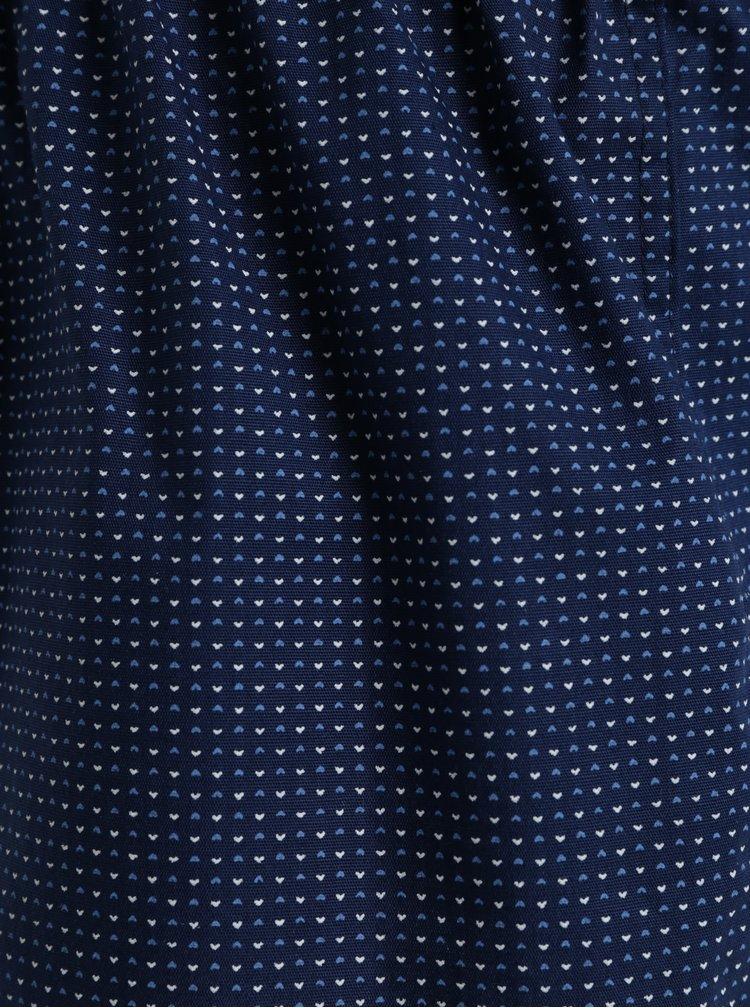 Tmavě modré dámské trenýrky s potiskem srdcí ZOOT