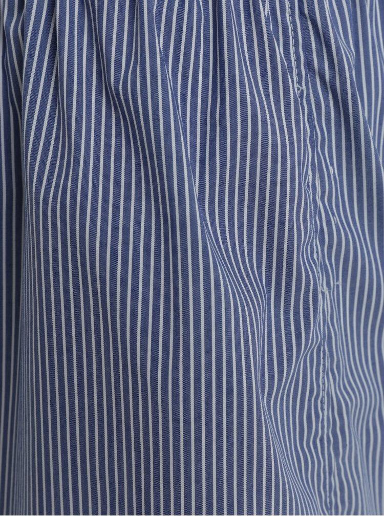 Krémovo-modré pánské pruhované trenýrky ZOOT