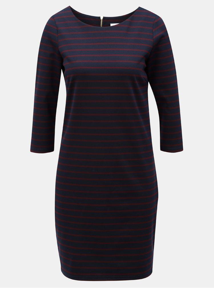 Tmavě modré pruhované šaty VILA Tinna